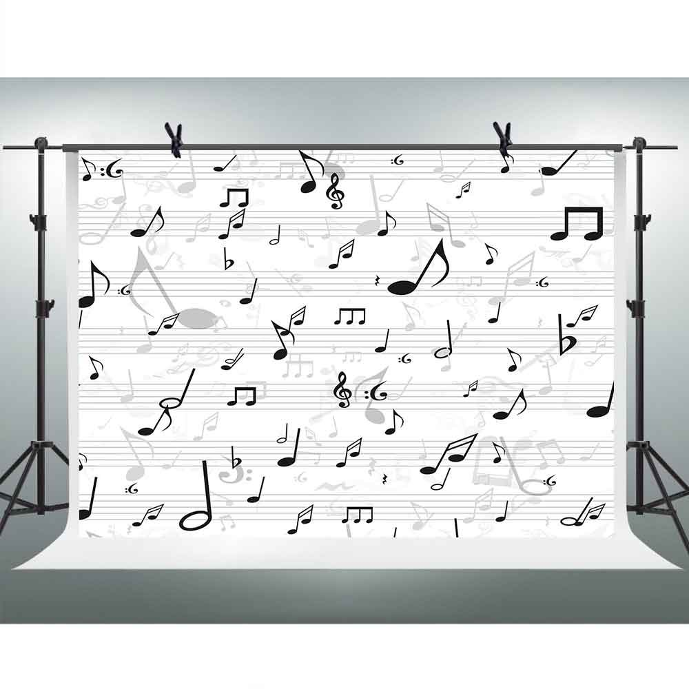 Musical Note Backdrops for Photography 10 X 7ft FHzON Stave音楽スコア背景テーマパーティーYoutube Backdrops壁紙写真ブース小道具Studioバナーlxfh216   B07FT4138R
