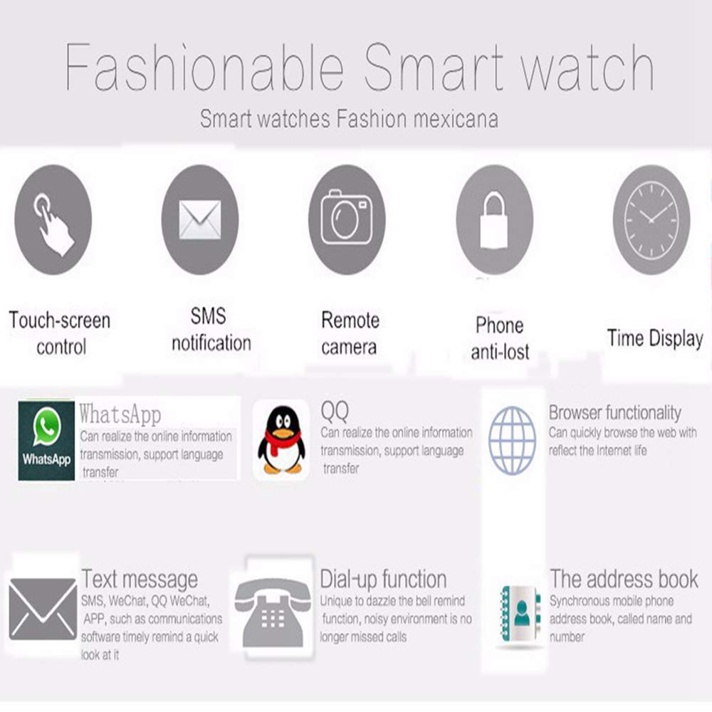 Amazon.com: WTGJZN - Reloj inteligente con Bluetooth A1 para ...