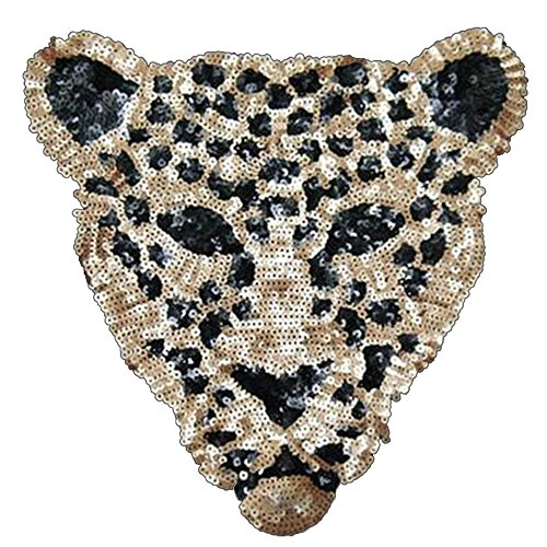 Toonol Sequins Sew on Patches for Clothes Leopard Sequins Deal with It Clothing DIY Motif Applique (Applique Sequin)