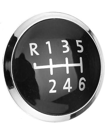fe27c183870 Emma Chrome Gear 6 Speed Round Shift Knob Cap