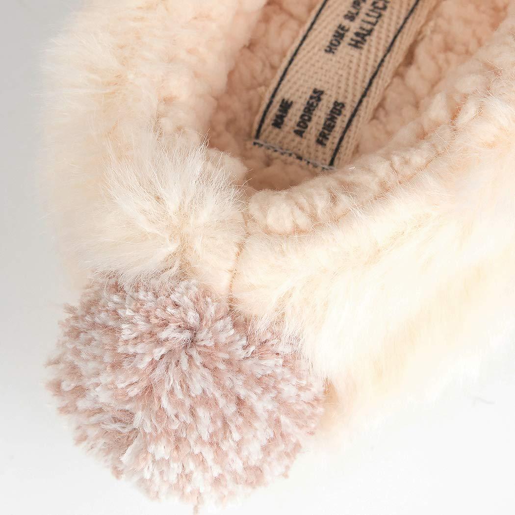 HALLUCI Kids Cozy Fleece Memory Foam House Trick or Treat Halloween Slippers