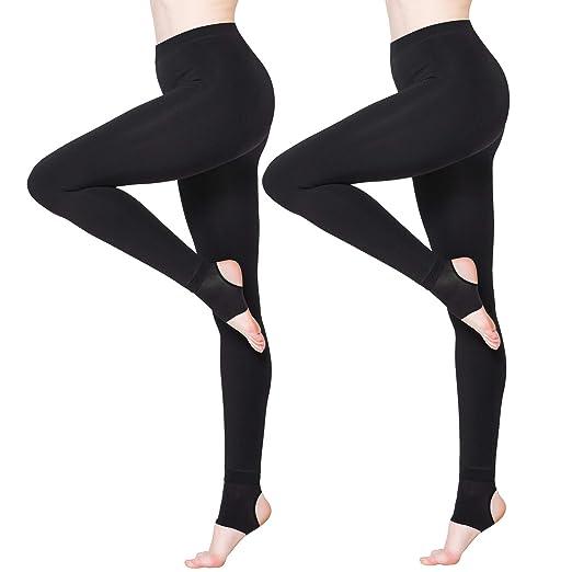 7693ba55a BONAS 2packs Women s Thermal Leggings Fleece Lined Casual Tights at ...