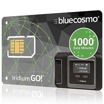 BlueCosmo Iridium satélite Vaya! Tarjeta SIM prepaga 1000 ...