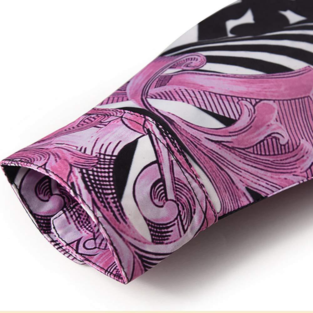 SANHION Mens Casual Long Sleeve Luxury Design Print Dress Shirt