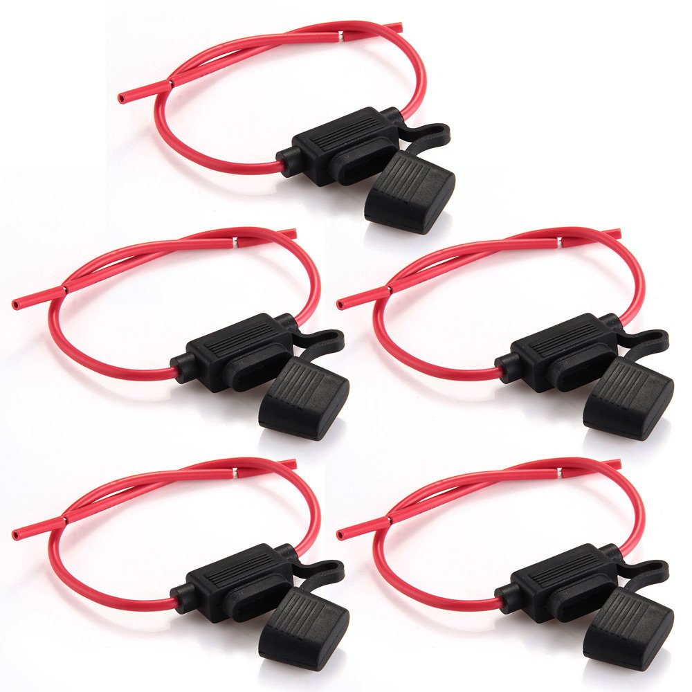 impermeabili Zimo/® 5 Portafusibili per auto con telaio completamente colato nero//rosso misura M