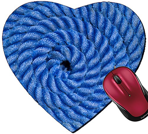 Wave Ship Shaped Wave (Liili Mousepad Heart Shaped Mouse Pads/Mat Ship rope texture wave closeup background helix Swirl blue spiral marine tool Industry object design Travel pattern IMAGE ID 139)