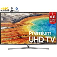 Samsung UN65MU9000FXZA 65 4K Ultra HD Smart LED TV (2017 Model) + 1 Year Extended Warranty (Certified Refurbished)