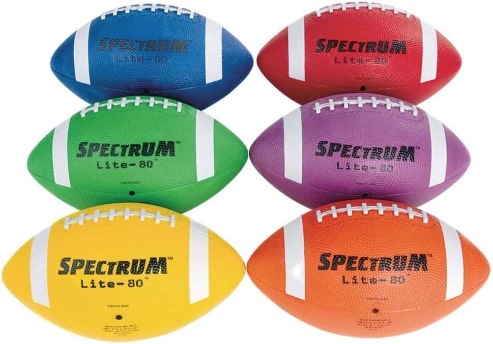 S & S Worldwide W9465 Spectrum Lite-80 Intermediate Football Pack (Pack of 6)