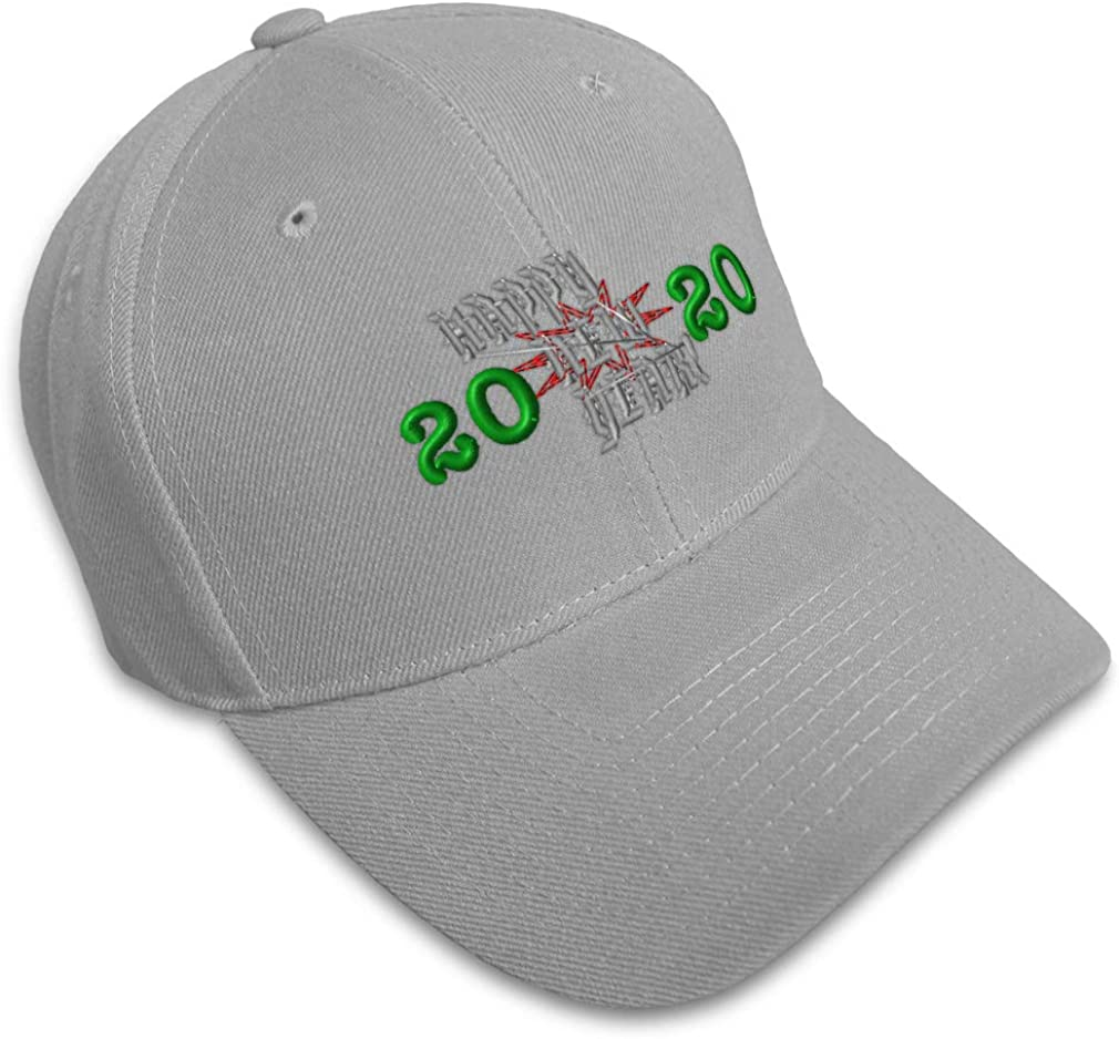 Custom Baseball Cap Happy New Year 2020 Embroidery Dad Hats for Men /& Women