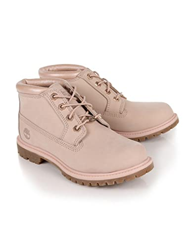 Spotlly Pink Womens Timberland Women s Nellie Chukka Double Waterproof Boots  - Cameo Rose Waterbuck - 5 eb0005d33