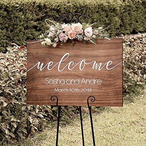 Wood Plaque Cartel de bienvenida rústico de madera para boda ...