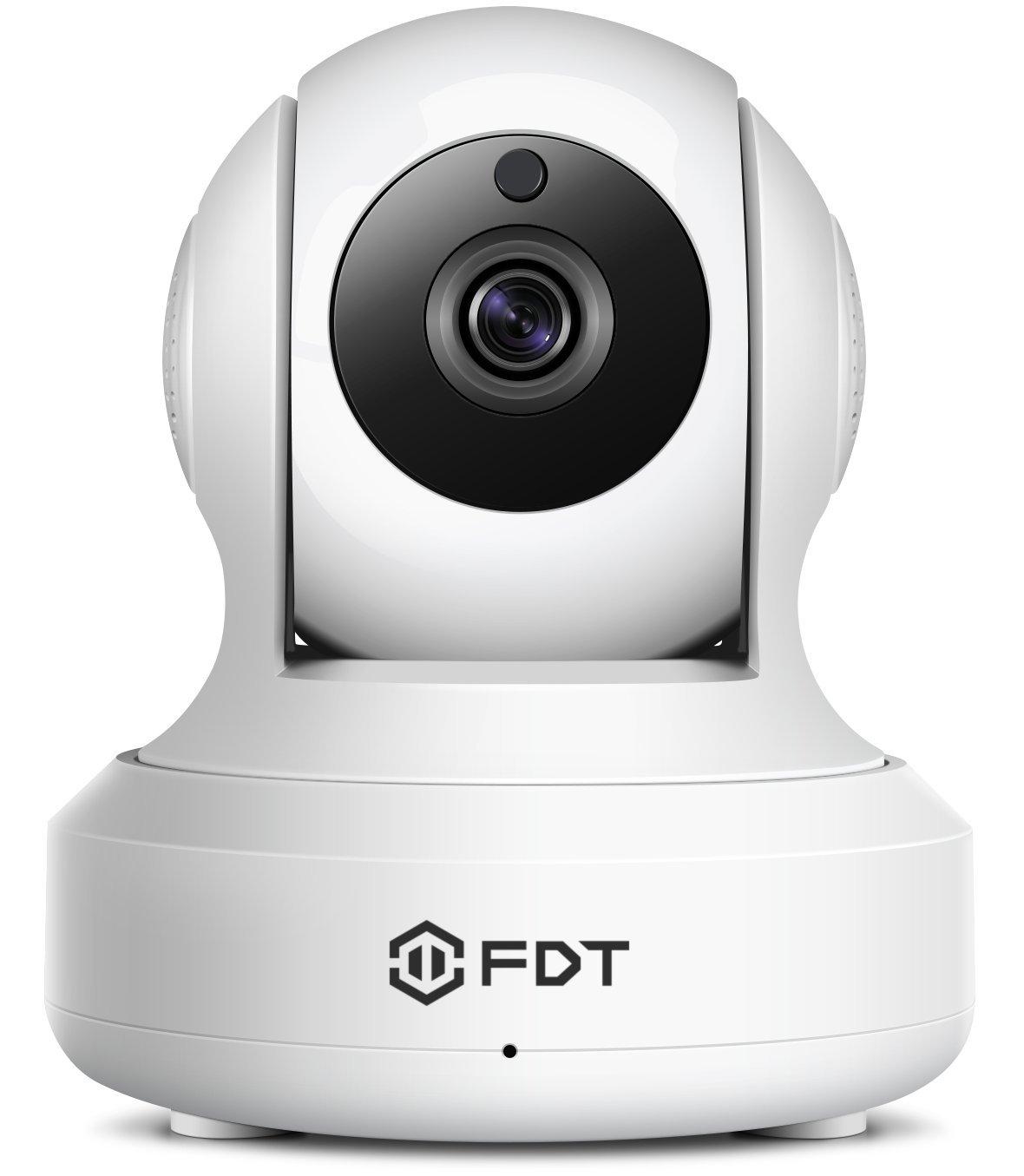 FDT 1080P HD Wi-Fi Pan / Tilt Cámara IP (2.0 Megapíxeles) Cámara de seguridad inalámbrica interior FD8901 (Negro), Plug & Play, Audio bidireccional y visión nocturna