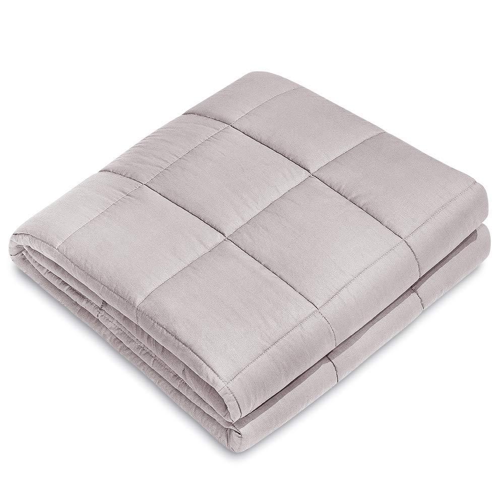 ライトソルト重み付けブランケット通気綿綿マイクロファイバー内部の睡眠の人々の不安、不眠症のストレスを改善するために重い毛布 B07MH7X3LK