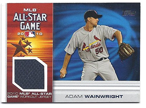 ADAM-WAINWRIGHT-2010-Topps-Update-All-Star-Stitches-AW-GAME-WORKOUT-JERSEY-Card-St-Louis-Cardinals-Baseball