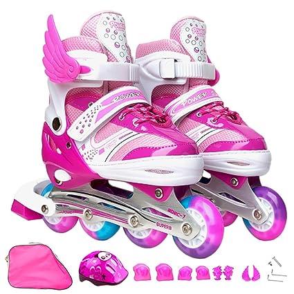 DUBAOBAO Zapatillas de Skate para niños, Patines de Ruedas para niños y niñas, tamaño