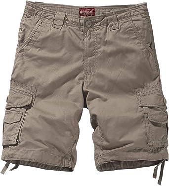 Match Hommes Shorts Bermudas Cargo Vintage Outdoor Coton Casual Lâche avec Poche