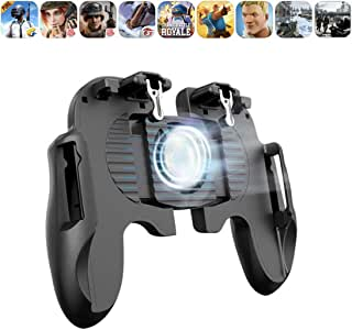 AFFC Mobile Game Controller Phone Cooler Gamepad Shooter Controller Mute Fan Joystick Joypad Portable