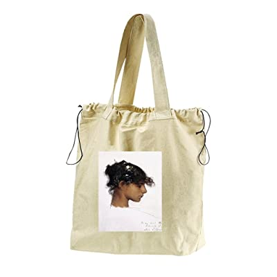 Rosina Ferrara Head Capri Girl (Sargent) Canvas Drawstring Beach Tote Bag