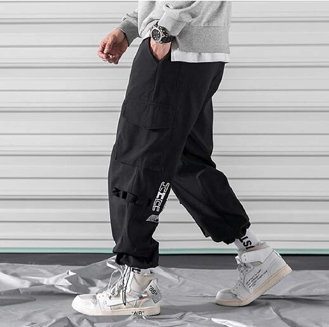Sweatwater Mens Cargo Loose Jogger Trousers Juniors Casual Sport Pants
