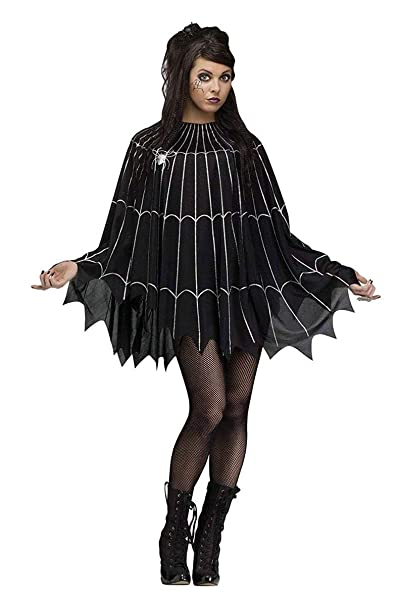 4da281cba15 Amazon.com  Fun World Women s Spider Web Poncho Costume