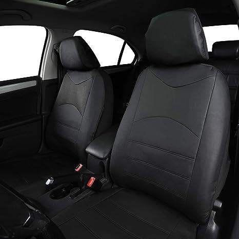 Esituro Scsc0046 1er Einzelsitzbezug Universal Sitzbezüge Für Auto Schonbezug Schoner Aus Kunstleder Schwarz Auto