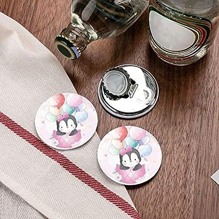Abrebotellas, lindo pingüino volando con abridor de globos de aire, imanes de nevera, abridor de botellas con una sola mano, sacacorchos, 2 piezas