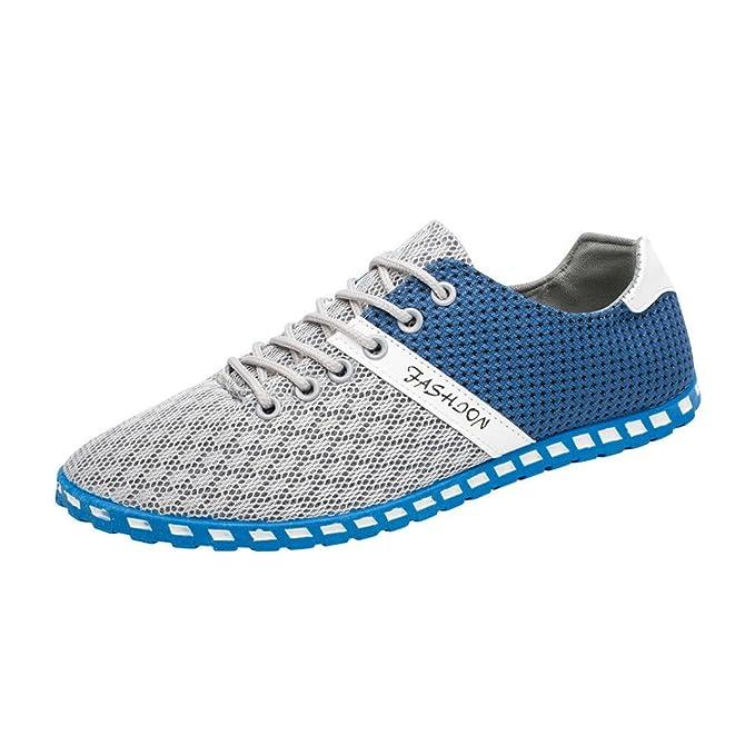 7e56b005c4647 Anxinke Men's Casual Comfortable Breathable Mesh Flat Sneakers Shoes