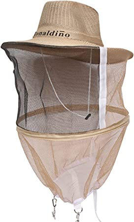 Beekeeping Beekeeper Cowboy Hat Net Veil Face Head Protector Bee-Mosquito Insect