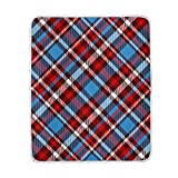 My Little Nest Trendy Tartan Plaid Pattern Cozy Throw Blanket Lightweight Microfiber Soft Warm Blankets Everyday Use for Bed Couch Sofa 50'' x 60''