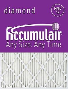 Accumulair Diamond 20x36x1 (19.5x35.5) MERV 13 Air Filter/Furnace Filters (6 pack)