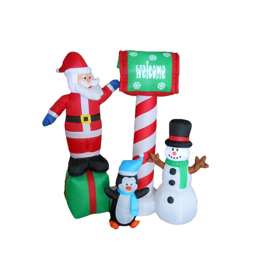 Papá Noel, pingüino y muñeco de nieve hinchable de Navidad ...