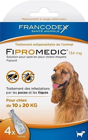 Francodex fiproline perros medios - 4 pipetas: Amazon.es: Productos para mascotas