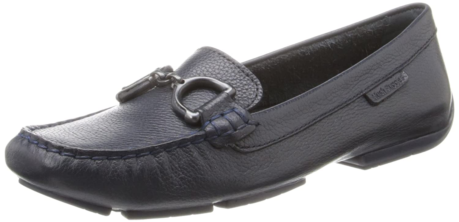 Amazon.com | Hush Puppies Womens Cora Slip-On Loafer, Navy Leather, 9.5 M US | Loafers & Slip-Ons