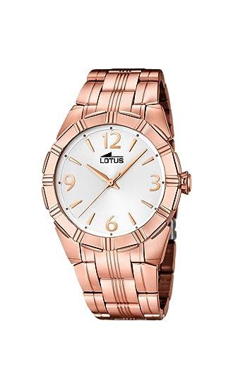 49f8d45c5d19 Lotus Reloj de Cuarzo para Mujer con Pulsera de Plata Esfera analógica  Pantalla y bañado en Oro Rosa de Acero Inoxidable 15986 1  LOTUS   Amazon.es  Relojes
