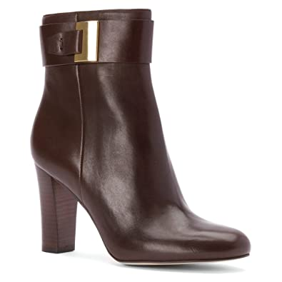 db9617fd1d0 MICHAEL Michael Kors Women s Guiliana Ankle Bootie Dark Chocolate Smooth  Calf Boot