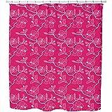 Uneekee Hibiscusdream Shower Curtain: Large Waterproof Luxurious Bathroom Design Woven Fabric