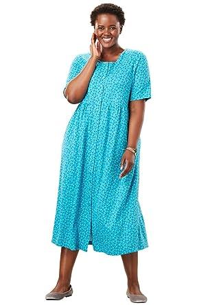 Only Necessities Womens Plus Size Button Front Empire Waist Dress