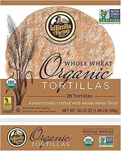 La Tortilla Factory Whole Wheat Organic Tortillas 30.33oz (20 Tortillas) (5 Pack)