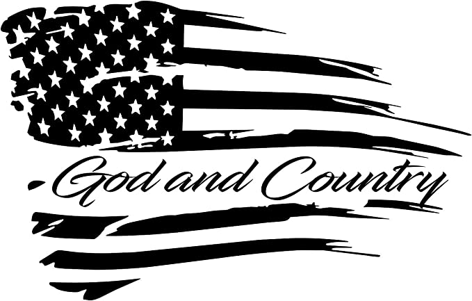 Vinyl Decal featuring God Guns /& Country Cross /& Crossed Pistols Sticker