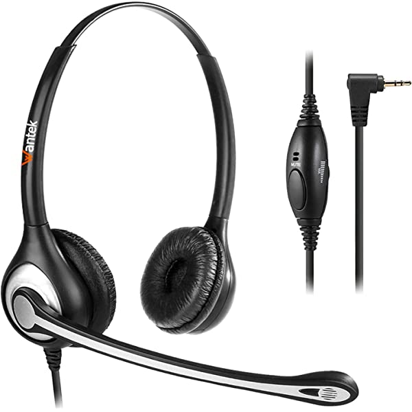Silver 2.5mm Call Center Hands Free headset Mic for Panasonic  KX-T7625 KX-T7630