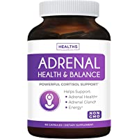 Adrenal Support & Cortisol Manager (Non-GMO) Powerful Adrenal Health with L-Tyrosine & Ashwagandha - Maintain Balanced…