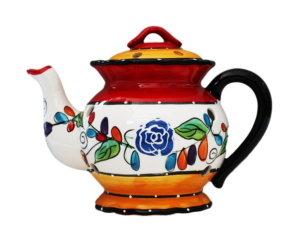 Tuscan Casa Cortes Hand Painted Tutti Frutt Collection Ceramic Electric Tart/Wax Burner 8-1/2''H, 89564 By Ack