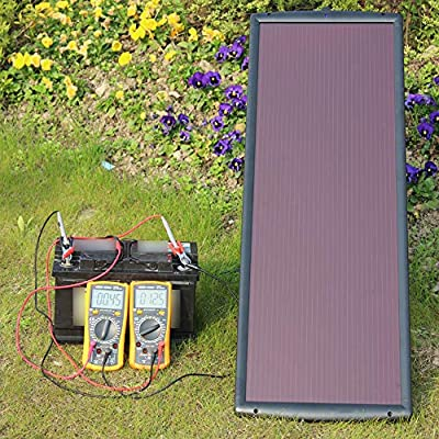 SUNAPEX 1.8W 12V Solar trickle Charger,Battery Charger,Battery maintainer Portable Power Solar Panel Suitable for Automotive, Motorcycle, Boat, ATV,Marine, RV, Trailer, Snowmobile, etc.