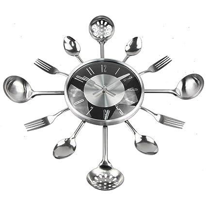 Amazon.com: 18Inch Large Decorative Wall Clocks Saat Metal ...