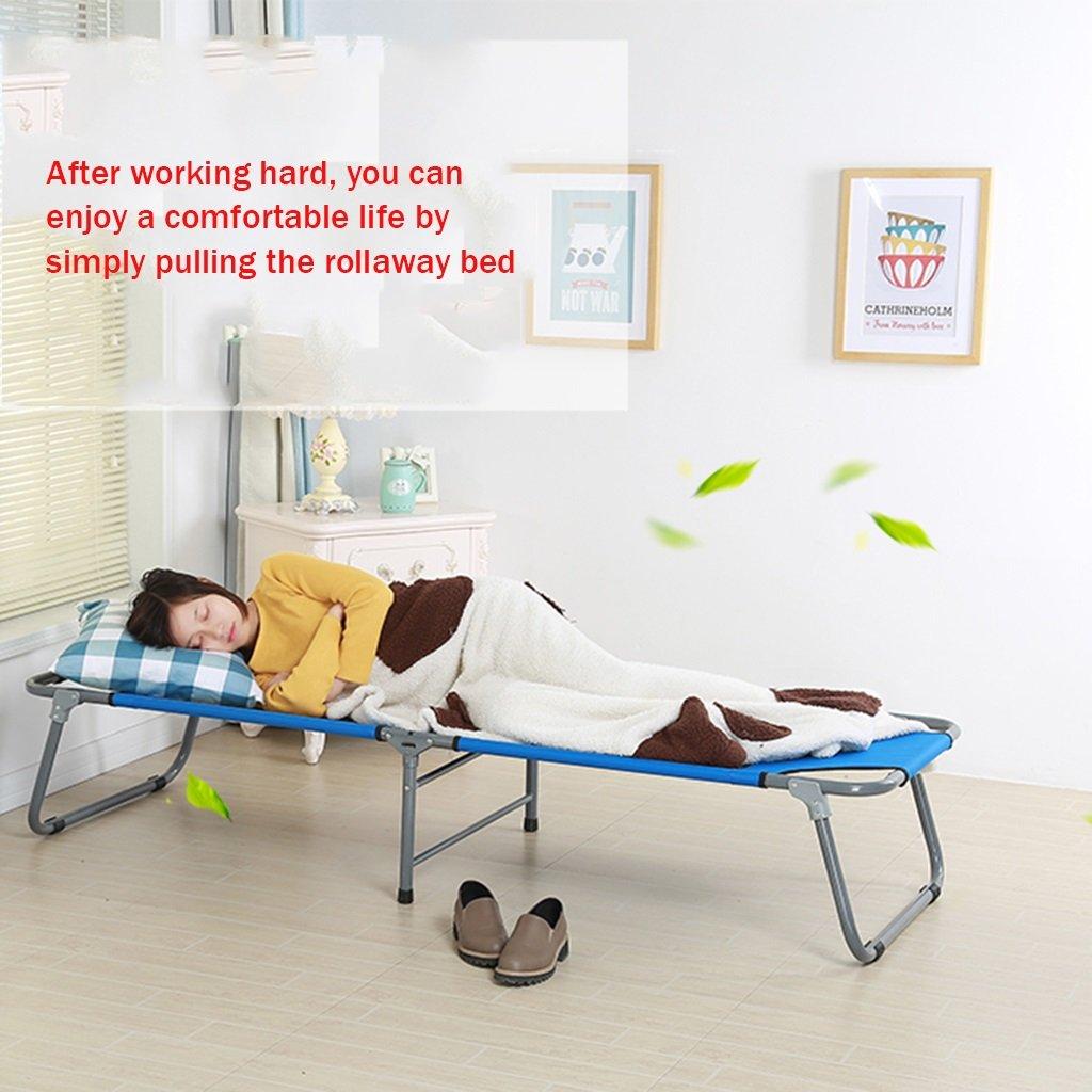 Cama plegable de oficina sola cama de de la siesta cama de cama siesta simple cama de tela cama de camping cama de acompañamiento 180  62  34 cm ( Color : Negro ) 111a35