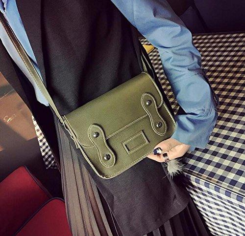 KPHY-Damen - Taschen Personalisierte Double - Schnalle Kleine Paket Retro - Retro - Single Tasche Schräg Über Eine Kleine Taschen green