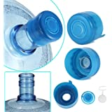 WINBOB 5PCS 55mm 3 and 5 Gallon Non-Spill Caps,Replacement Water Bottle Snap On Cap Anti Splash Peel 5 Piece…