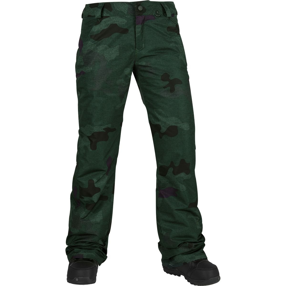 Volcom Junior's Frochickie Insulated 2 Layer Shell Snow Pant, Dark Camo, Large by Volcom (Image #1)