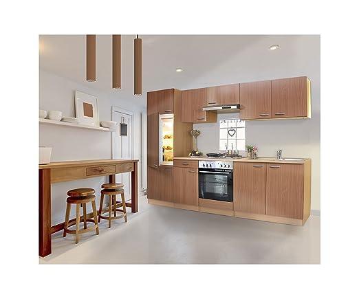respekta LBKB270BBMA - Muebles de Cocina (270 cm, Madera de Haya)