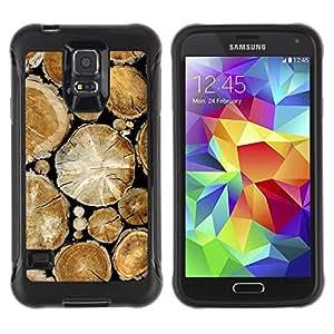 Suave TPU GEL Carcasa Funda Silicona Blando Estuche Caso de protección (para) Samsung Galaxy S5 V / CECELL Phone case / / Wood Pile Cut Trees Rainforest Nature /